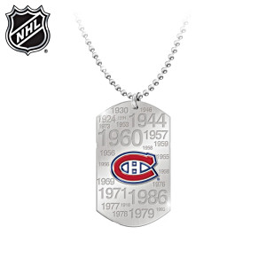 Montreal Canadiens® Stainless Steel Dog Tag Pendant