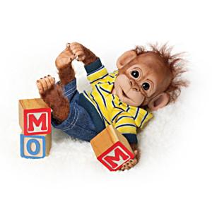 "Cindy Sales ""Playtime With Charlie"" Lifelike Baby Orangutan"