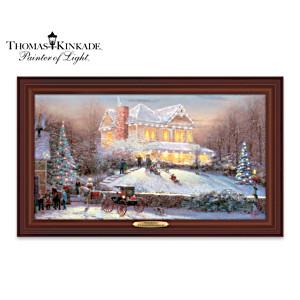 "Thomas Kinkade ""Victorian Christmas II"" Lighted Canvas Print"