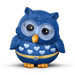 """Granddaughter Owl Always Love You"" Birthstone Music Box"