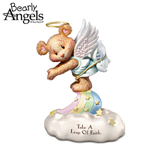 """Guy Gilchrist """"Leap Of Faith"""" Bearly Angels Figurine"""