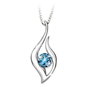 """""""Reach For The Stars"""" Blue Topaz Necklace For Granddaughter"""