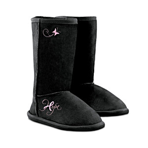 """Breast Cancer Awareness """"Walking In Hope"""" Women's Boots"""