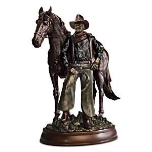 """John Wayne: Western Great"" Cold-Cast Bronze Sculpture"