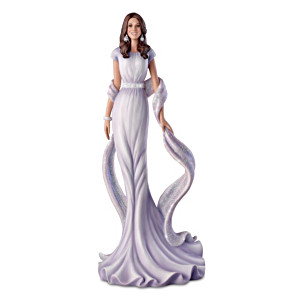 Kate Middleton Red Carpet Figurine With Swarovski Crystals