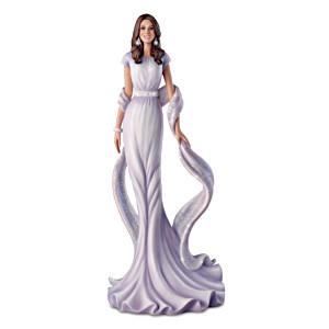Kate Middleton Red Carpet Figurine With Swarovski Crystals