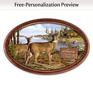 """Woodland Retreat"" Collector Plate With Your Family Name"
