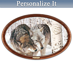 """Soul Mates"" Personalized Masterpiece Framed Plate"
