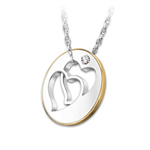 """Forever Sisters"" Diamond Pendant With Etched Sentiment"
