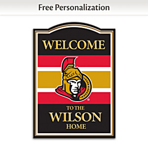 Ottawa Senators® Welcome Sign Personalized With Name
