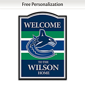 Vancouver Canucks® Welcome Sign Personalized With Name
