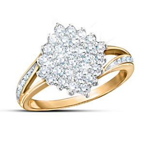 """Diamond Delight"" Ring With Over 1/2-Carat Genuine Diamonds"