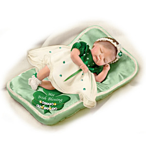"""""""Wee Irish Blessings"""" Baby Doll: Personalize Her Pillow"""