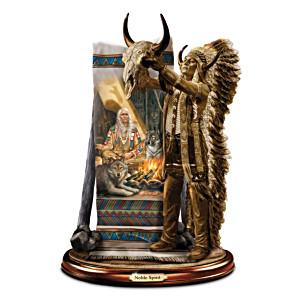"""Russ Docken """"Noble Spirits"""" Cold-Cast Bronze Sculpture"""