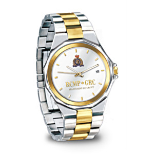 Officially Licensed RCMP Stainless Steel Chronograph Watch