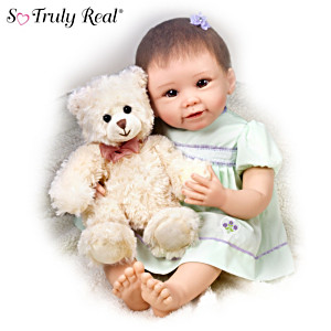 Lily Baby Girl Doll And Gracie Bear By Linda Murray