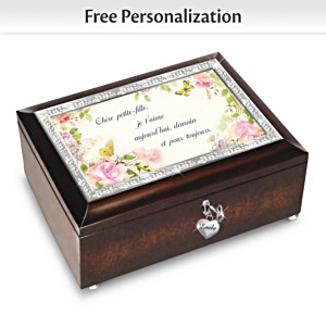 Granddaughter I Love You Personalized Music Box