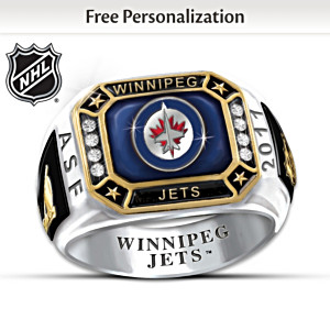 Winnipeg Jets™ Monogrammed Men's Ring