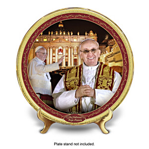 Pope Francis Commemorative Porcelain Collector Plate