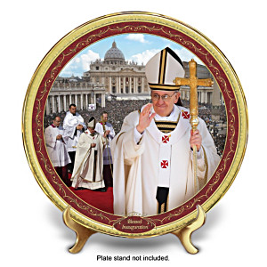 Pope Francis Commemorative Inauguration Collector Plate