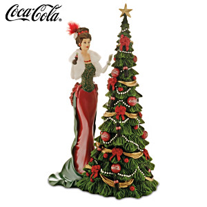 """2014 COCA-COLA """"A Timeless Tradition"""" Annual Lady Figurine"""