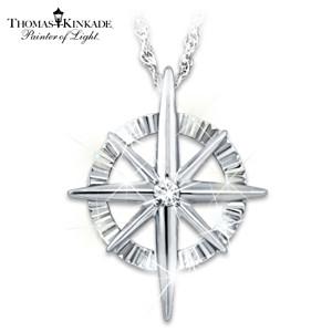 "Thomas Kinkade ""Faith For All Seasons"" Diamond Necklace"