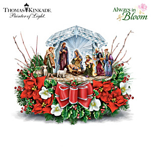 Nativity Crystal Centerpiece Inspired By Thomas Kinkade