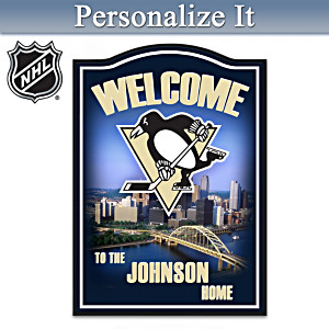 Pittsburgh Penguins® Welcome Sign Personalized With Name