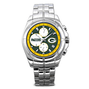Green Bay Packers Stainless Steel Chronograph Watch