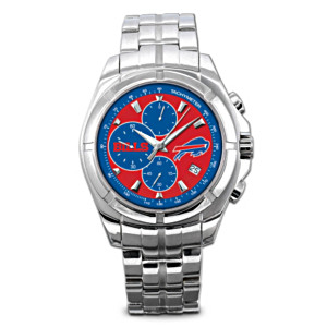 Buffalo Bills Stainless Steel Chronograph Watch