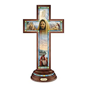 Greg Olsen Illuminated Stained-Glass Faith Cross