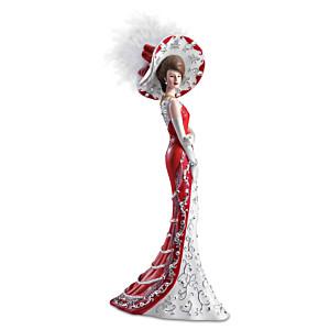 """Patriotic """"Lady True North"""" Figurine with Swarovski Crystals"""
