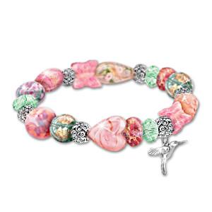 "Lena Liu's ""Garden Of Beauty"" Glass Beaded Bracelet"