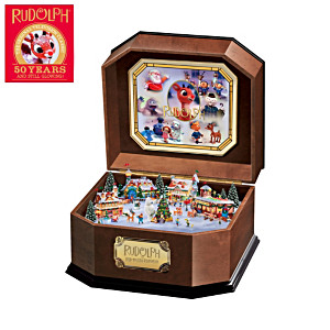 "50-Year Tribute ""Rudolph The Red-Nosed Reindeer"" Music Box"
