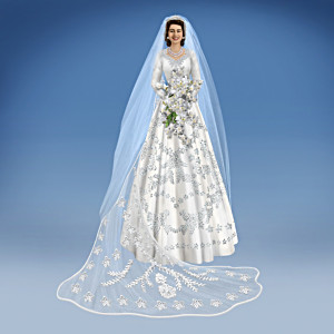 """Princess Elizabeth, The Royal Bride"" Figurine with Veil"