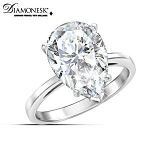 """Jackie's Beauty"" Diamonesk Replica Anniversary Ring"