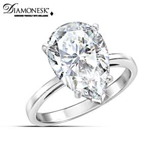 """Jackie's Beauty"" Diamonesk Replica Anniversary Ring"