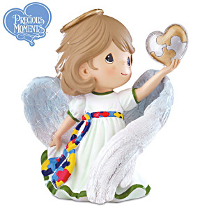 Precious Moments Autism Awareness Angel Of Courage Figurine