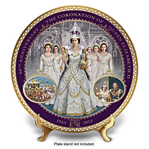 Queen Elizabeth II Commemorative Coronation Collector Plate
