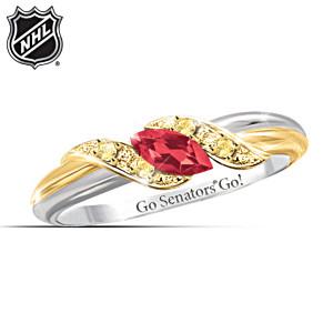 Ottawa Senators® Pride Engraved Embrace Ring