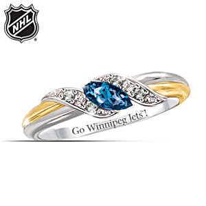 Winnipeg Jets™ Pride Engraved Embrace Ring