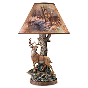 Greg Alexander Whitetail Majesty Accent Lamp With Sculpture