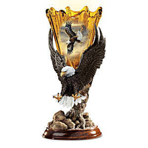 "Ted Blaylock ""Golden Majesty"" Eagle Art Torchiere Lamp"