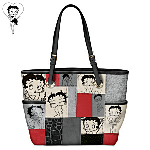 """Sassy Patches"" Betty Boop Tote Bag"