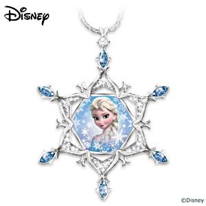 Disney FROZEN Crystal Snowflake Pendant With Diamond