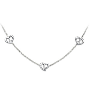 """""""Today, Tomorrow, Always"""" Diamond Necklace For Daughter"""