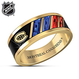 """The Pride Of The Canadiens®"" 18K Gold-Plated Men's Ring"