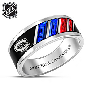 """The Pride Of The Canadiens®"" Rhodium-Plated Men's Ring"