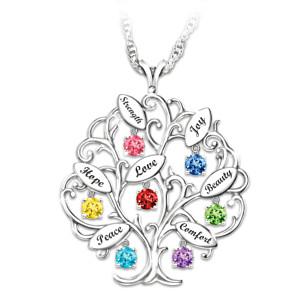 I Wish You Blessing Tree Swarovski Crystal Pendant Necklace