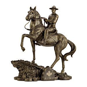 """Heart Of A Hero"" RCMP Cold-Cast Bronze Tribute Sculpture"